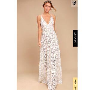 Dress the Population lace maxi dress